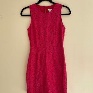 JCrew Floral Lace Shift Dress